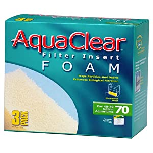 Aquaclear 70-Gallon Foam Inserts, 3-Pack 80