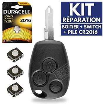 Carcasa de mando a distancia coche caja llave Jongo Renault Clio 3 ► Kangoo ► Twingo ► Trafic ► Master ► Modus ► Megane