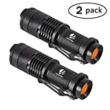 yIFeNG Tactical Flashlight, 2 Pack LED Mini Flashlight Water Resistant, Ultra Bright High