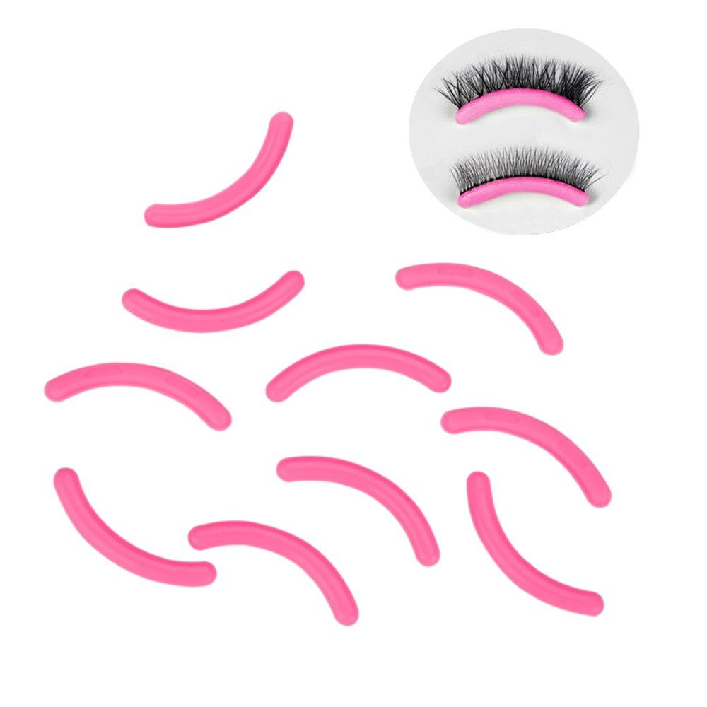 Anself Eyelash Display Stander Reusable Silicone Perming Rods Eyelash Extension Accessories for Beauty Salon 10 Pcs W7782P-9YLXL2