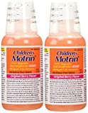 2 Combo Pack Children's Motrin Ibuprofen Pain Fever Reliever Original Berry Flavor of 4 Oz