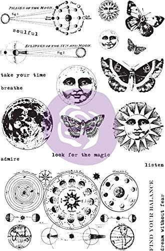 Prima Marketing 964931 Prima Art Daily Planner Clear Stamps-Dream Without Fear