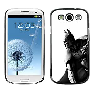CASEMAX Slim Hard Case Cover Armor Shell FOR Samsung Galaxy S3- DARK BAT SUPERHERO B&W