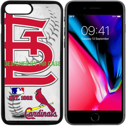 fan products of Cardinals St Louis Baseball New Black Apple iPhone 8 Case By Mr Case