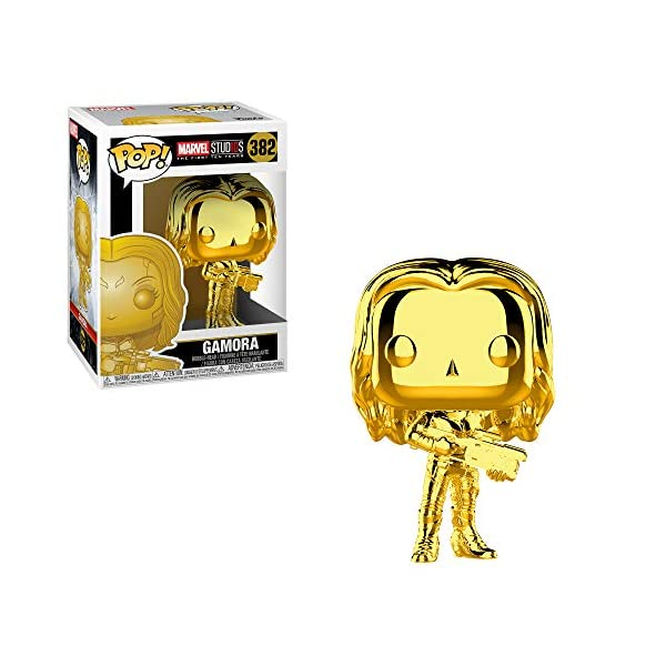 51joslZz8ZL Funko Marvel: Pop! Marvel Studios 10 Gold Chrome Collectors Set 3 - Groot, Hulk, Thor, Gamora Toy