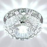 Zehui Fixture Pendant Lamp for Corridor Hallway Living Room Lobby LED Crystal Ceiling Light White