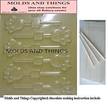 Moldes y cosas de huellas de oveja y caracol moldes para Chocolate © con moldeado manual de + 50 palos de helado para manualidades: Amazon.es: Hogar