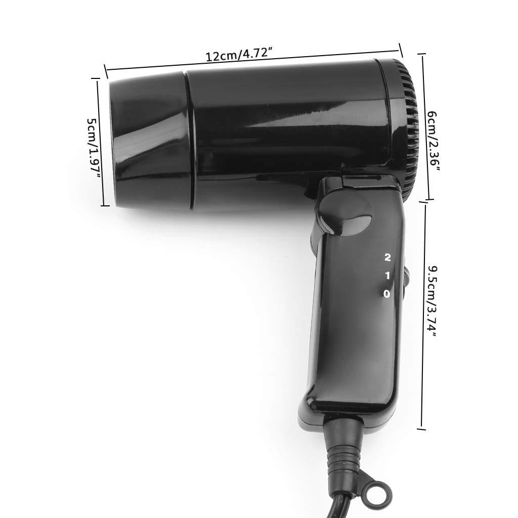 con ventana desoxidante Kuvuiuee 12 V Secador de pelo port/átil para coche para fr/ío y calor