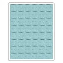 Sizzix 661610 Texture Fades Embossing Folder, Stitched Plaid by Tim Holtz