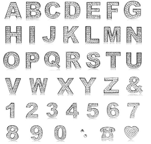 Individual DIY Metal Diamond Letter Alphabets 3D Car Badge Sticker Decal Emblem (Number