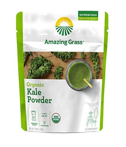 Amazing Grass Organic Smoothie Powder, Kale, Kale, 5.29 Ounce