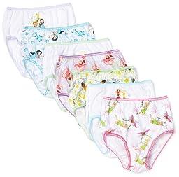 Disney Little Girls\'  Tinkerbell 7 Pack Underwear, Multi, 2T/3T