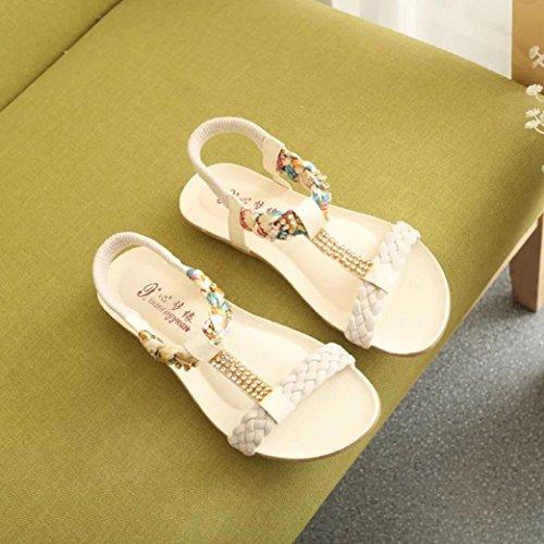 HLHN - Zapatillas de estar por casa de Piel Sintética para mujer Beige