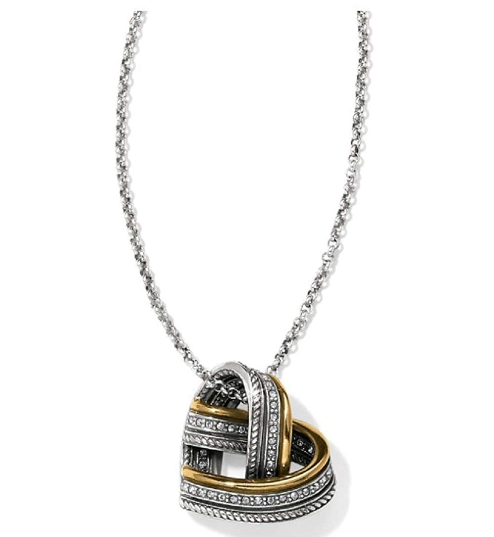 Brighton Neptunes Rings Woven Heart Necklace Silver-Gold