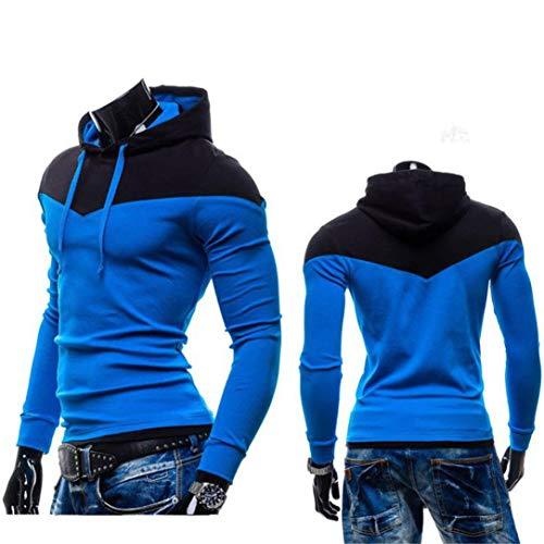 capucha Camiseta con hombre deportiva oto o Sudadera cielo para de capucha Sudaderas Azul Sudaderas con Aimee7 w4a7SSE