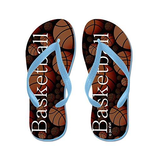 Cafepress Basketbal Slippers - Flip Flops, Grappige String Sandalen, Strand Sandalen Caribbean Blue