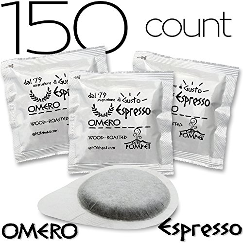 Caffe Pompeii   E S E  7 Gr Espresso Coffee Pods   Compatible With All Ese Espresso Pod Machines   Omero   Espresso   150 Pods