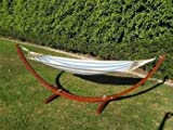 New Wooden Curved Arc Hammock Stand W/ Hammock