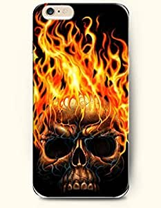 SevenArc Phone Case for iPhone 6 Plus 5.5 Inches with the Design of Burning Skull