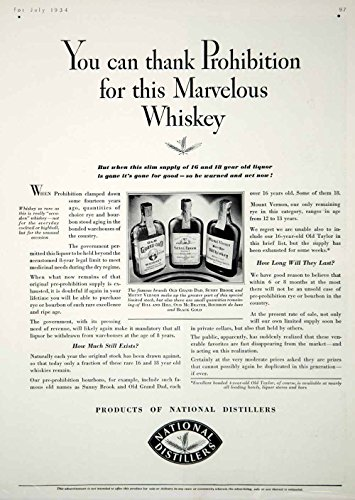 1934 Ad Vintage National Distillers Pre Prohibition Whiskey Alcohol Liquor YHB3 - Original Print Ad by PeriodPaper...