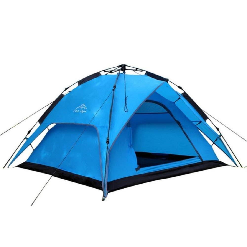 JIE Guo Outdoor-Produkte 3-4 Personen Camping Zelte, hochwertige automatische Zelte, Anti-Regen, Wind, Net Yarn Ventilation, Anti-Mosquito, einfach zu Zelte zu Bauen
