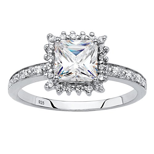 platinum sapphire ring - 8