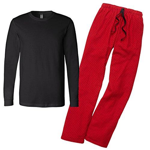 Red Swiss Dot - KAMAL OHAVA Family Matching Fleece Pajama Set, Youth L, Red Swiss Dot