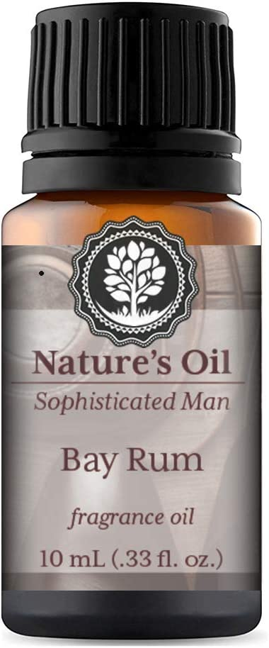 Bay Rum Fragrance Oil 10ml for Men's Cologne, Diffuser Oils, Making Soap, Candles, Lotion, Home Scents, Linen Spray and Lotion