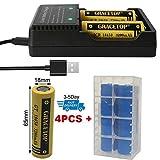 Smart Battery Charger + 4pcs Flat Top 3.7V TR Batteris (Size:65mmx18mm) for Mini
