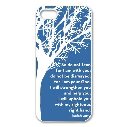 [diycover iPhone 5 5S Case - Christian Theme - Bible Verse Isaiah 41:10 - Hard Case Cover Protector Gift] (Good Costume Ideas For Two Friends)