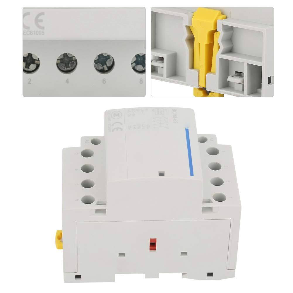 AC24V 4P 63A 24V Contacteur CA /à montage sur rail 60Hz Faible consommation domestique Contacteur CA /à rail DIN 230V 50
