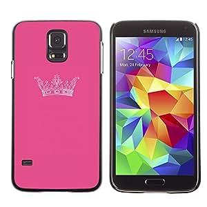 LECELL--Funda protectora / Cubierta / Piel For Samsung Galaxy S5 SM-G900 -- King Pink Brand Minimalist Design --