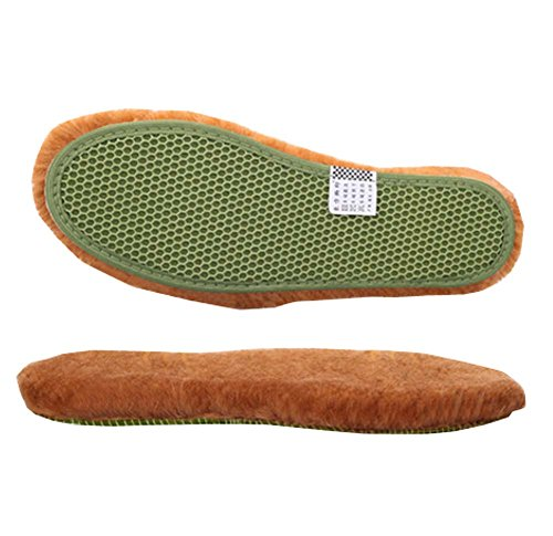 DRAGON SONIC Wool Insoles,Artificial Wool Shoe Inserts,Winter Heated Shoe Insoles-3 pairs,A3