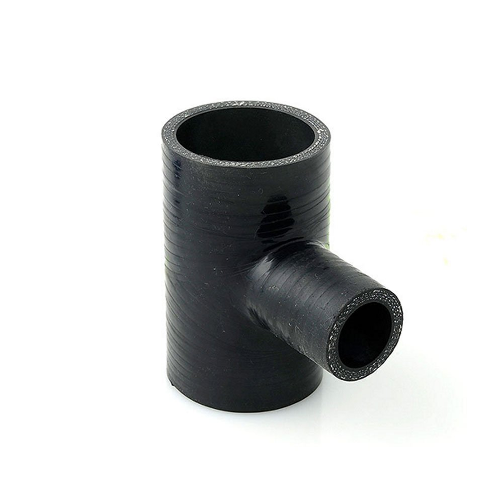 63mm ID Black Silicone T-Piece Hose AutoSiliconeHoses