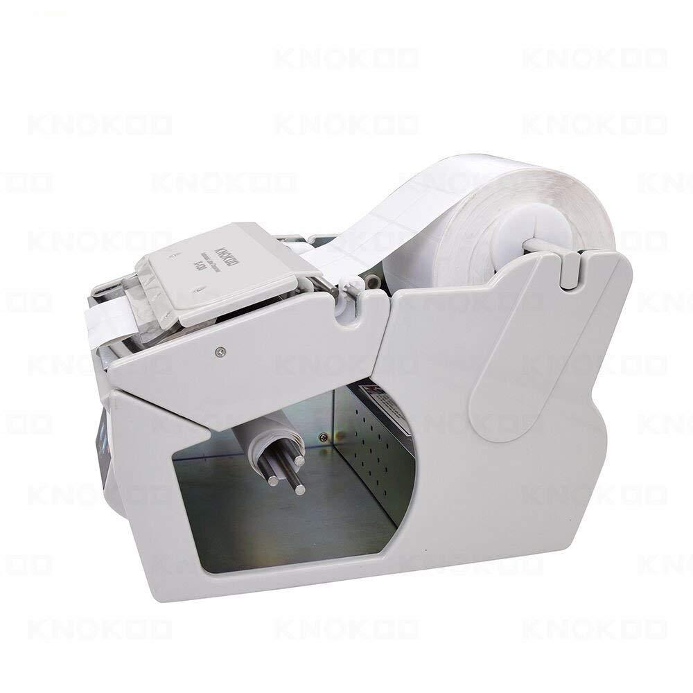 Dispensador automático de etiquetas X-100, KNOKOO Juego de máquina de etiquetado adhesivo de control de velocidad electrónico para 5-130 mm de ancho ...