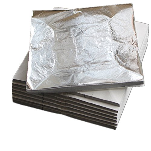 1000 sheets 14 X 14cm Imitation silver leaf gilding sheet foil aluminum leaf free ship...