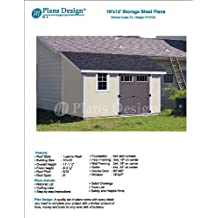 10' x 12' Deluxe Shed Plans, Lean To Roof Style Design # D1012L, Material List and Step By Step Included