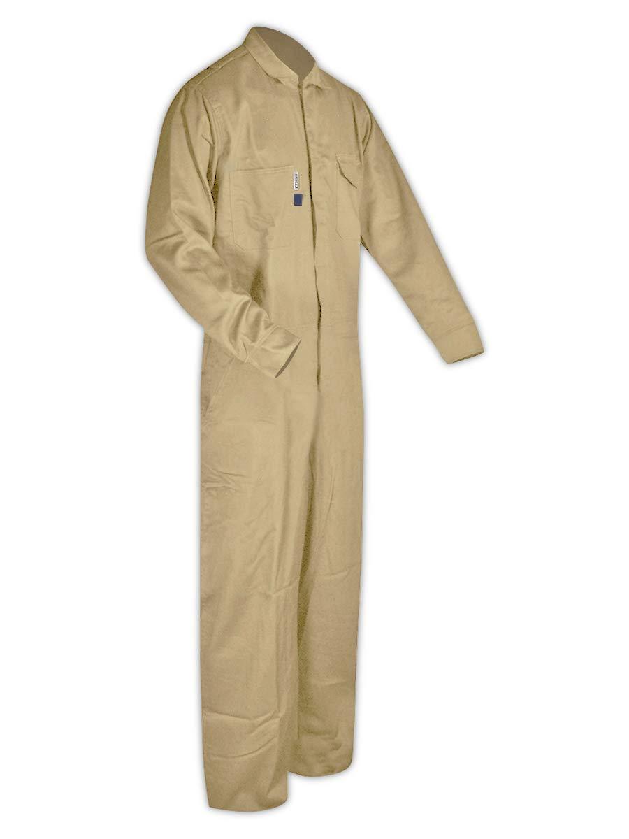 1 Coverall Arc Flash /& Flash Fire Protection FR 100/% Cotton Coveralls MAGID Dual Hazard 7 oz Grey XL