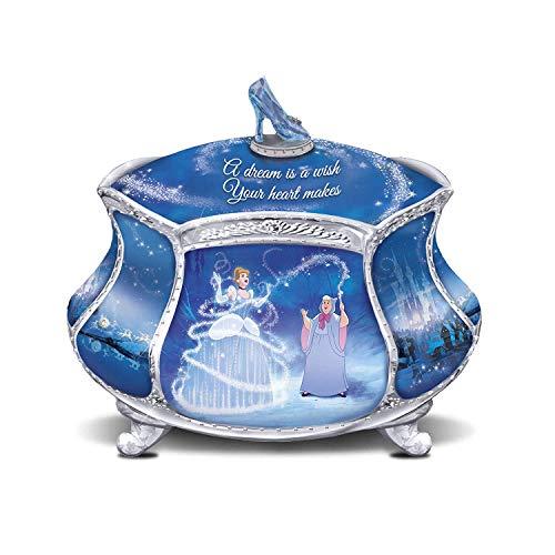 Bradford Exchange Disney Cinderella's Dream Heirloom Porcelain Music Box ()