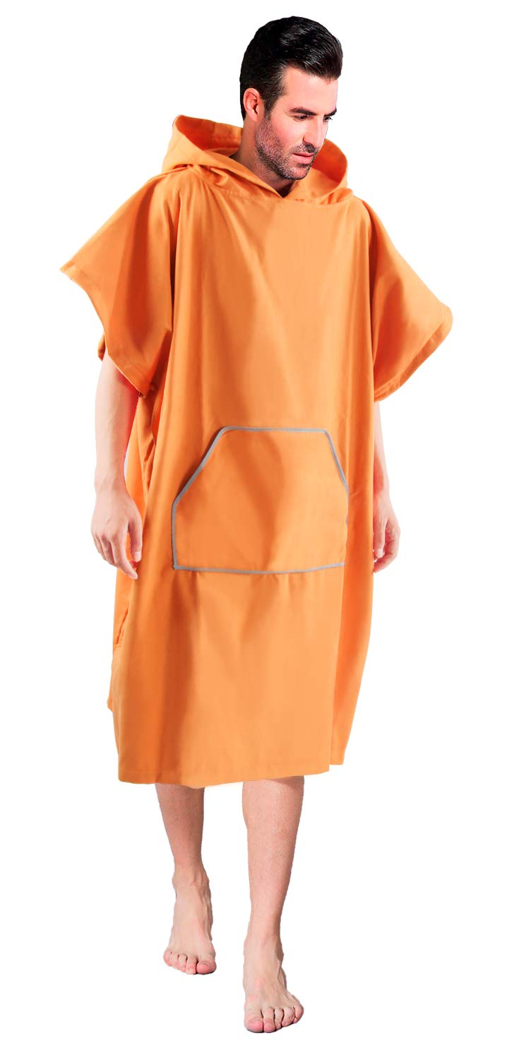 351305679eff5d Winthome Changing Towel Robe, Surf Poncho (Orange) Sport Light Weight  Microfiber Suede Perfect for Swim, Sports & Outdoors - Amazon Canada