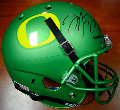 Marcus Mariota Autographed Apple Green Schutt Full Size Helmet Oregon Ducks