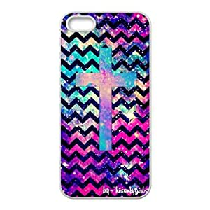 Custom iPhone 5,5S Case, Zyoux DIY Brand New iPhone 5,5S Case - Chevron and Galaxy