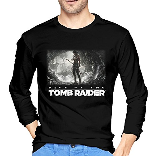 Price comparison product image Men's Rise Of The Tomb Raider Tshirts Black Cool