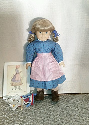 American Girl Doll KIRSTEN and Paperback BOOK - RETIRED!