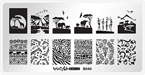 Whats Up Nails - B040 Safari Ride Stamping Plate for Nail Art Design
