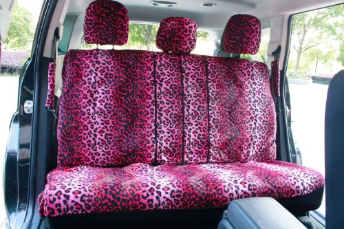 OxGord-17pc-Set-Leopard-Animal-Print-Auto-Seat-Covers-Set-Front-Low-Back-Buckets-Rear-Split-Bench-Pink