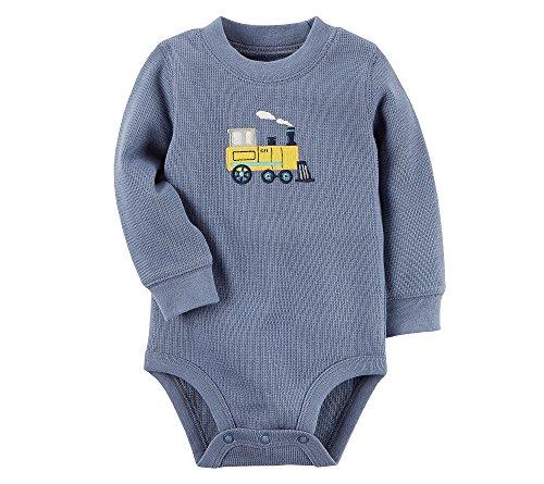 Carter's Baby Boys' Thermal Train Bodysuit 6 Months Baby Boys Thermal Bodysuit