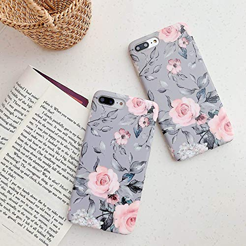 YeLoveHaw iPhone 8 Plus / 7 Plus Case for Girls, Flexible Soft Slim Fit Full-Around Protective Cute Phone Case Cover…