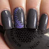 Japanese Painted Fern | Gray Creme Nail Polish with Purple Shimmer | by Black Dahlia Lacquer