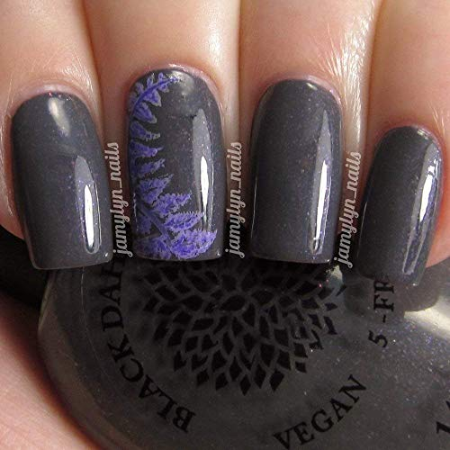 Japanese Painted Fern | Gray Creme Nail Polish with Purple Shimmer | by Black Dahlia Lacquer by Black Dahlia Lacquer LLC
